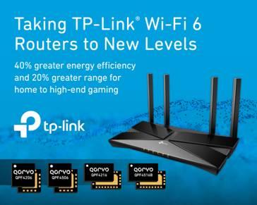 Qorvo®将TP-Link® Wi-Fi 6路由器性能提升至全新水平