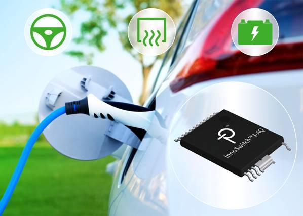 Power Integrations推出高度集成的InnoSwitch3反激式开关IC,适合纯电动汽车和插电式混合动力汽车应用