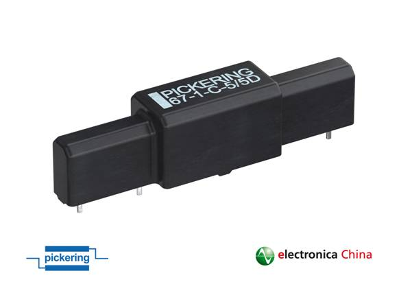 Pickering推出节省空间且设计简化的新款耐高压SPDT C型舌簧继电器